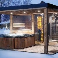 Sauna und Saunahäsern nach eigene Vorstellungen mit hohem Qualität!
