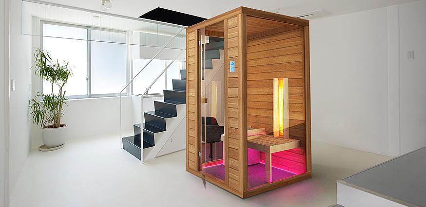 kombinierte sauna f r 1 person. Black Bedroom Furniture Sets. Home Design Ideas