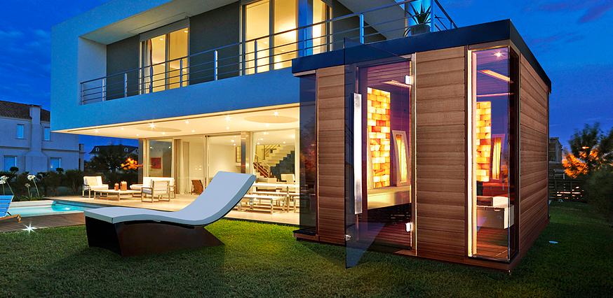individuelle sauna zuhause wellness saunen bau aussen haus. Black Bedroom Furniture Sets. Home Design Ideas